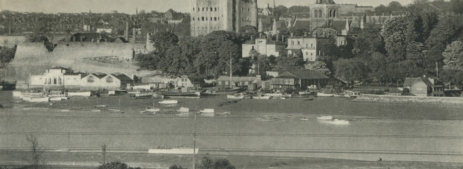 Rochester across the Medway c.1930